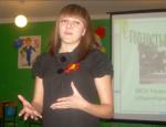 Выступление выпускницы  2008 года  Железниковой Ю.